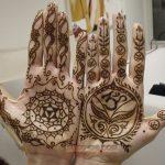 traditional henna hands for wedding celebration
