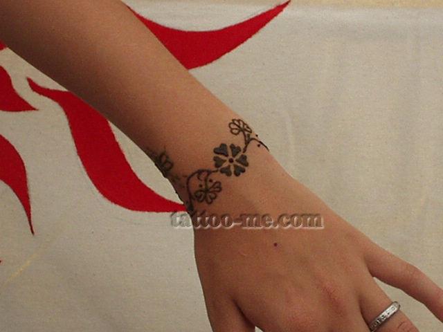 Henna Tattoo Designs Anklet: Bracelet Henna