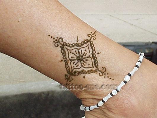 Henna Tattoo Designs Anklet