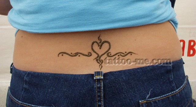 Henna Peacock Tattoo Lower Back: Lower Back Henna