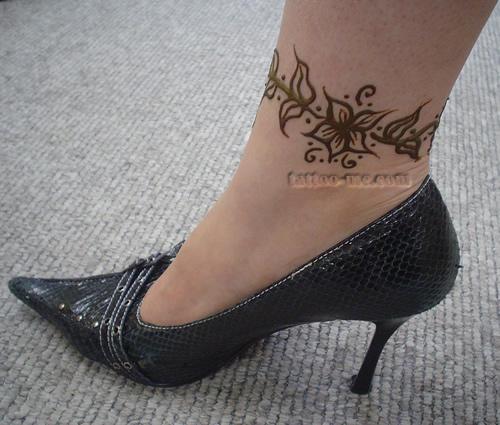 Ankle bracelet tattoo images