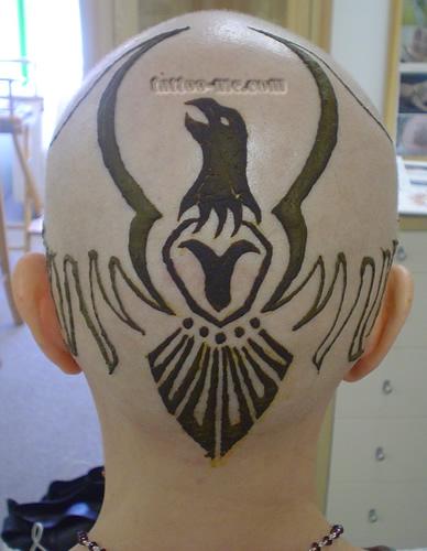 phoenix design head henna tattoo 3