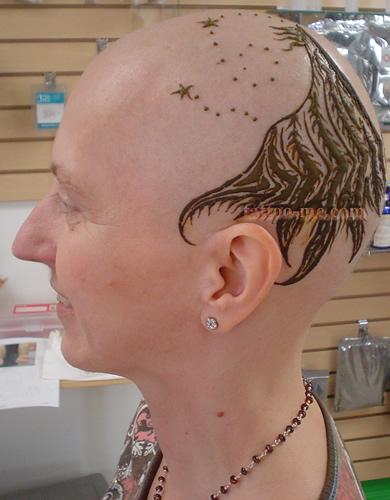 phoenix design head henna tattoo 9