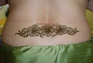 Hibiscus Flowers Lower Back Henna Tattoo Tattoo Me