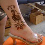phoenix ankle henna tattoo