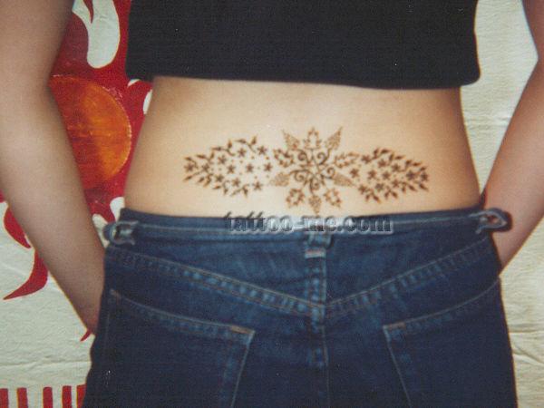 Henna Tattoo Lower Back