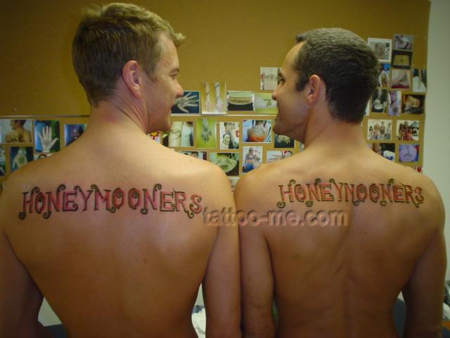 Honeymooners temporary tattoos