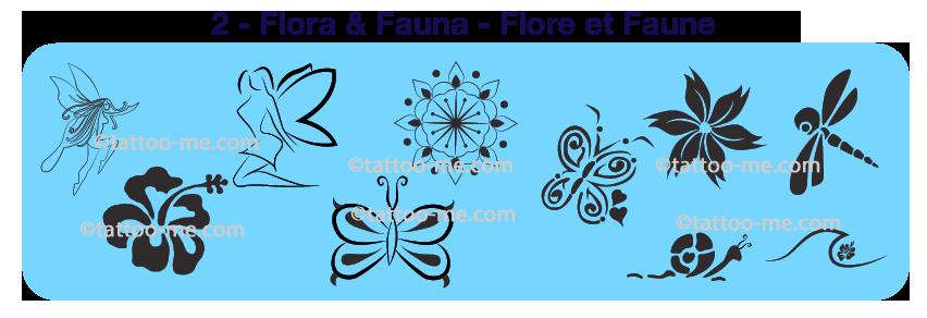 flora & fauna designs tattoo-me stamp pack