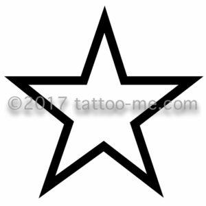 star - étoile tattoo-me stamp