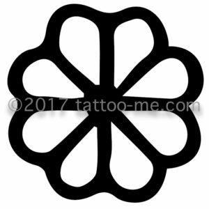 8-leaf flower - fleur à 8 feuilles tattoo-me stamp