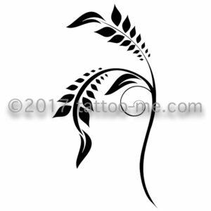 henna branch - branche de henné tattoo-me stamp