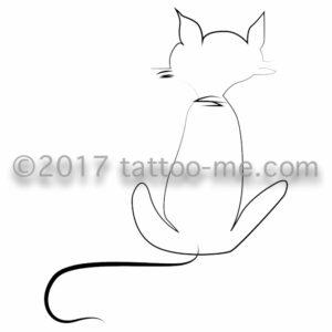 cat - chat tattoo-me stamp