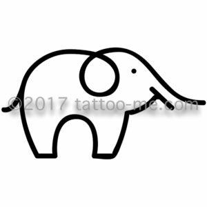 elephant tattoo-me stamp