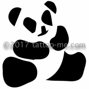 panda bear - ours panda tattoo-me stamp
