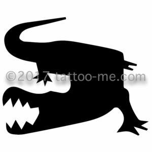 aligator - alligator tattoo-me stamp