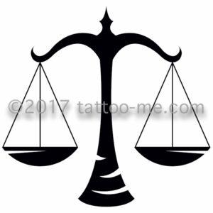 zodiac libra - balance tattoo-me stamp
