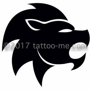 zodiac leo - lion tattoo-me stamp