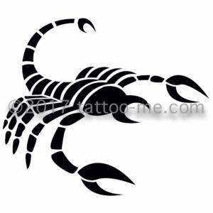 zodiac scorpio - scorpion tattoo-me stamp