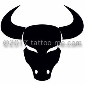 zodiac taurus - taureau tattoo-me stamp