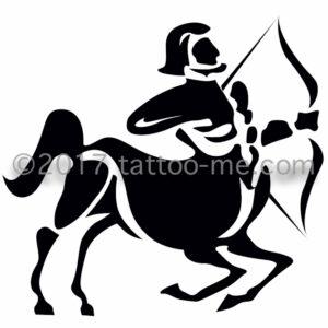 zodiac sagittarius - sagittaire tattoo-me stamp