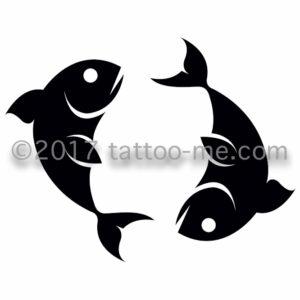 zodiac pisces - poisson tattoo-me stamp