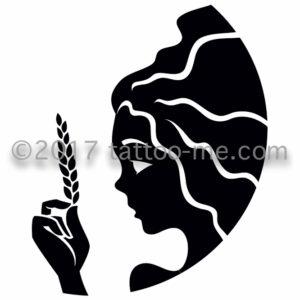 zodiac virgo - vierge tattoo-me stamp