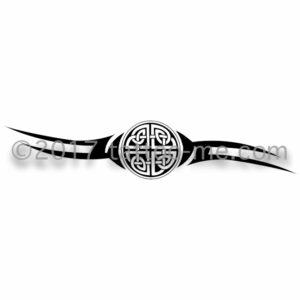 tribal with celtic knot tattoo-me stamp - Tribal avec nœud celtique
