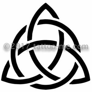 trinity knot triquetra tattoo-me stamp - noeud triquetra de la trinité