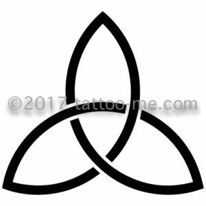 celtic symbol triquetra tattoo-me stamp - symbol celtique triquetra