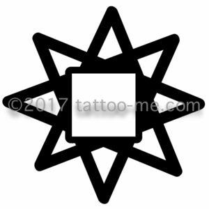 square sun tattoo-me stamp - soleil carré